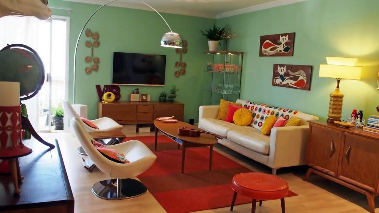 50 Retro Living Room Ideas