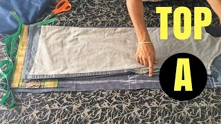 Chudidar Top Cutting in Tamil Part-A | சுடிதார் கட்டிங் width=