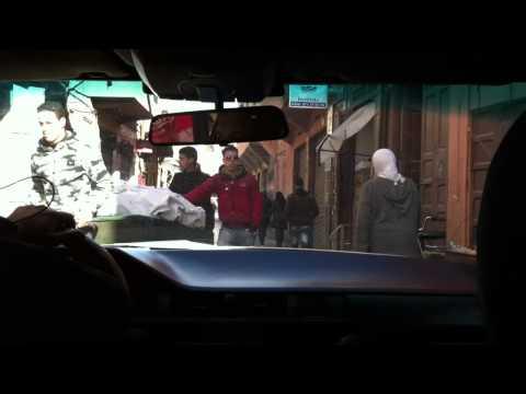 Marrakesh downtown driving