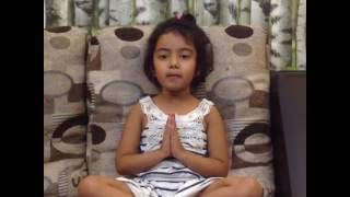 This cute little girl  singing lord Rama song