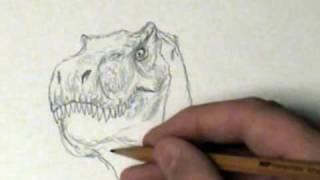11 minute Dinosaur sketch... (time-lapsed down to 3 min 16 sec)