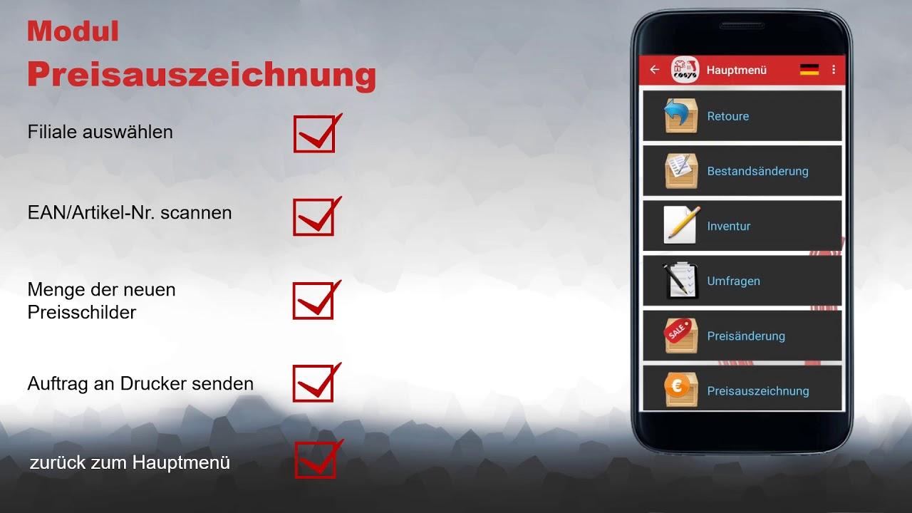 Mobile Preisauszeichnung mit dem Smartphone | COSYS POS Non Food Demo