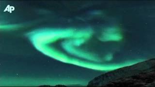 Raw Video: Spectacular Aurora Borealis Display