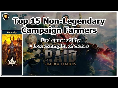 RAID Shadow Legends | Top 15 Non-Legendary Campaign XP Farmers