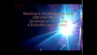 Maxxiline 2 2ltr Argon Ar/Co2 CO2 disposable gas bottles