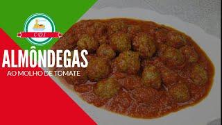 Almôndegas ao molho de Tomate - Culinaria direto da Italia