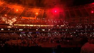Baku 2015 closing ceremony fire show & Sari gelin Azerbaijan folk song (part 4)