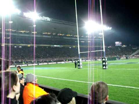 Hino da Nova Zelania no jogo do All Blacks!! New Zeland anthem during an All Blacks game!!