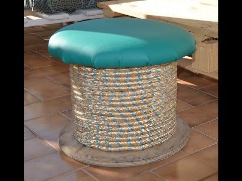 Come creare un tavolino con una vecchia bobina per cavi elettrici