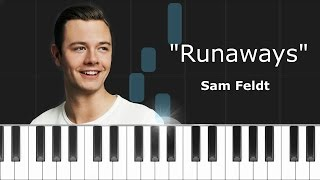 "Sam Feldt -""Runaways"" ft Teemu Piano Tutorial - Chords - How To Play - Cover"