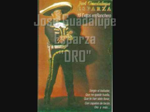 Oro de Jose Guadalupe Esparaza Letra y Video