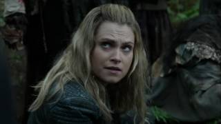 The 100 4x06 Clarke tries to help a Triku who is wounded