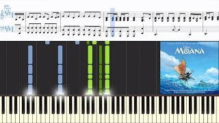 [Moana] [Instrumental] Auli'i Cravalho - How Far I'll Go (Synthesia Piano Tutorial)