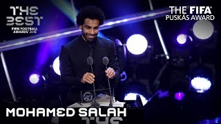 Mohamed Salah reaction - The FIFA Puskas Award Winner 2018