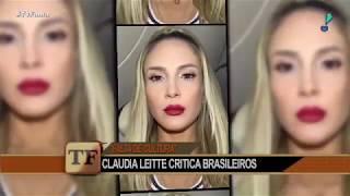 Claudia Leitte chama povo brasileiro de mal-educado ao falar de furacão