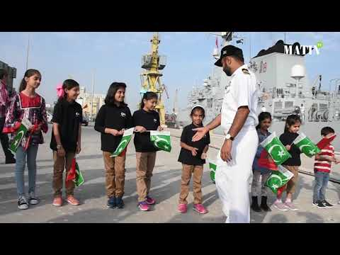 Video : PNS Saif accoste au port de Casablanca