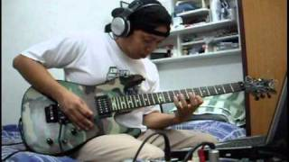 parting time by Rockstar guitar solo cover
