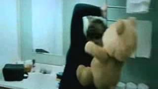 Teddy bear looses temper! YOLO