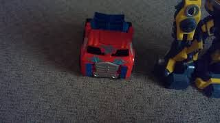 Stop motion moive for kids-Optumus Prime, Bumblebee and Hulk buster