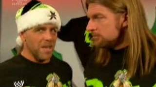 DX CHRISTMAS SEGMENT:WWE DVD'S AND HBK AND TRIPL H LOSE IT!