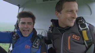 Início impressionante: o pulo de paraquedas do Zac Efron - Celebridades à Prova de Tudo