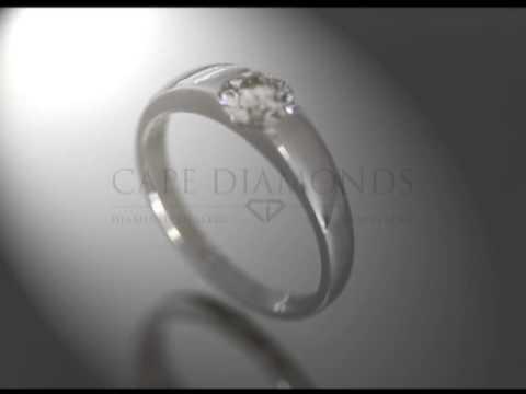 Soul ring,joel graham,solitaire diamond,plain band,platinum,engagement