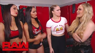 The Bella Twins have a heart-to-heart with Ronda Rousey: Raw, Sept. 3, 2018