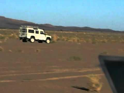 Driving Through Moroccan Sahara Desert