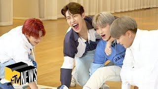 ATEEZ Get 'Tangled Up' Answering Our Questions | MTV News