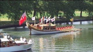 Queen Elizabeth II on board 'Gloriana'