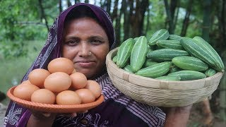 Bangali  POTOL KHASHI Recipe Cooking by our Grandmother | Village Food Pointed Gourd Recipe width=