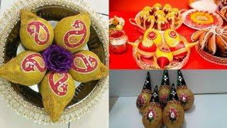DIY    decorative idea of coconut decoration for wedding