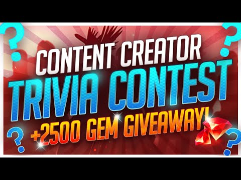 RAID Shadow Legends | CONTENT CREATOR TRIVIA CONTEST! | 2500 GEM GIVEAWAY TONIGHT!