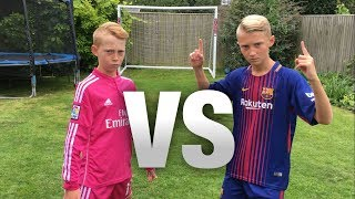 Messi VS Ronaldo FOOTBALL CHALLENGES! (WITH A FORFEIT) width=