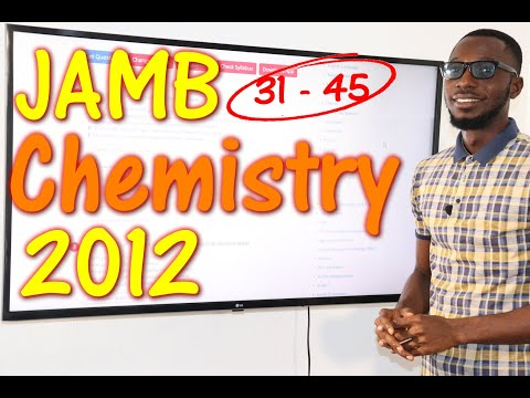 JAMB CBT Chemistry 2012 Past Questions 31 - 45