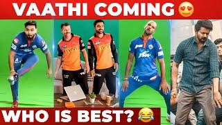 VIDEO : Rishabh Pant , Dhawan , Warner , Smith Dances For Vaathi Coming🔥   SRH   DC   Vijay  Anirudh