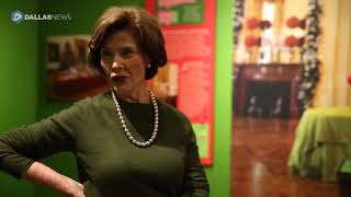 "Laura Bush tours ""All Things Bright and Beautiful"" Christmas exhibit"