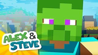 👀 ZOMBIE PRANK | The Minecraft Life of Alex & Steve | Minecraft Animation