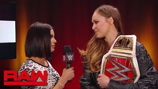 "Ronda Rousey rips into ""The Man,"" Becky Lynch: Raw, Nov. 12, 2018"