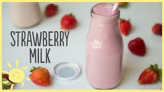 EAT | Strawberry Milk, Homemade (Only 4 Ingredients!)