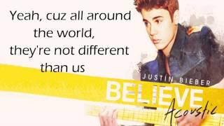 Justin Bieber - All Around The World HD (acoustic) (lyrics + download)