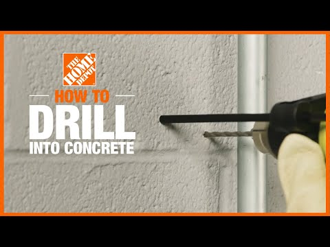 A video outlining how to drill info concrete.