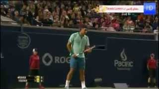 Live Federer VS Ferrer Public sing Happy birthday to you Roger