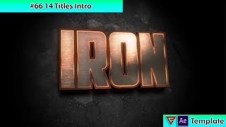 Free After Effects Intro Template #66 : 14 Titles Intro Template for After Effects