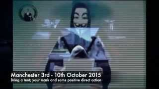 ANONYMOUS OCCUPY THE TORY CONFERENCE UK  3RD OCTOBER 2015