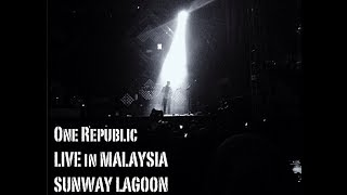 One Republic - Light It Up (Concert Intro) LIVE in Malaysia Sunway Amusement Park, 31st October 2013