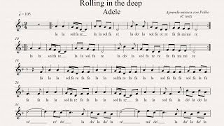 ROLLING IN THE DEEP: (flauta, violín, oboe...) (partitura con playback)
