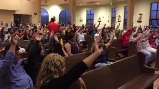 En la iglesias la asunción de pájaro concierto con trigos : fuerza de búfalo