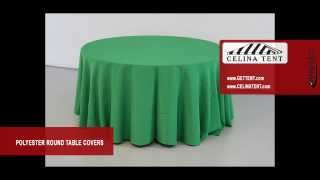 Polyester Round Table Covers / Linen / Throws
