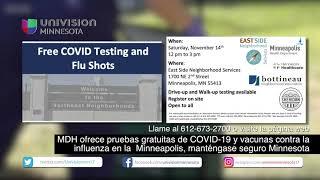 MDH ofrece pruebas gratuitas de COVID-19 y vacunas contra la influenza en MPLS, manténgase seguro MN